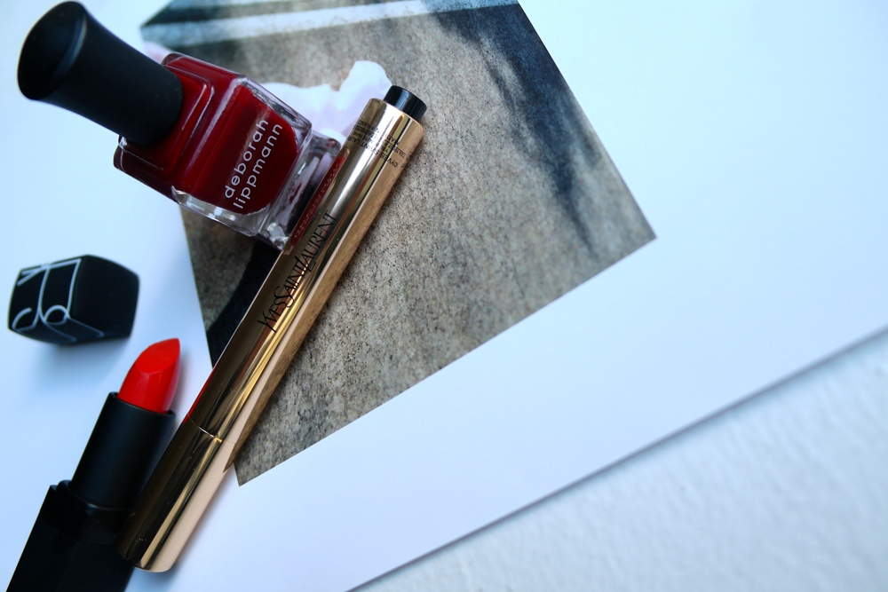 Nars lip in Heat Wave, Nail in The Lady is a Tramp, YSL 5.5