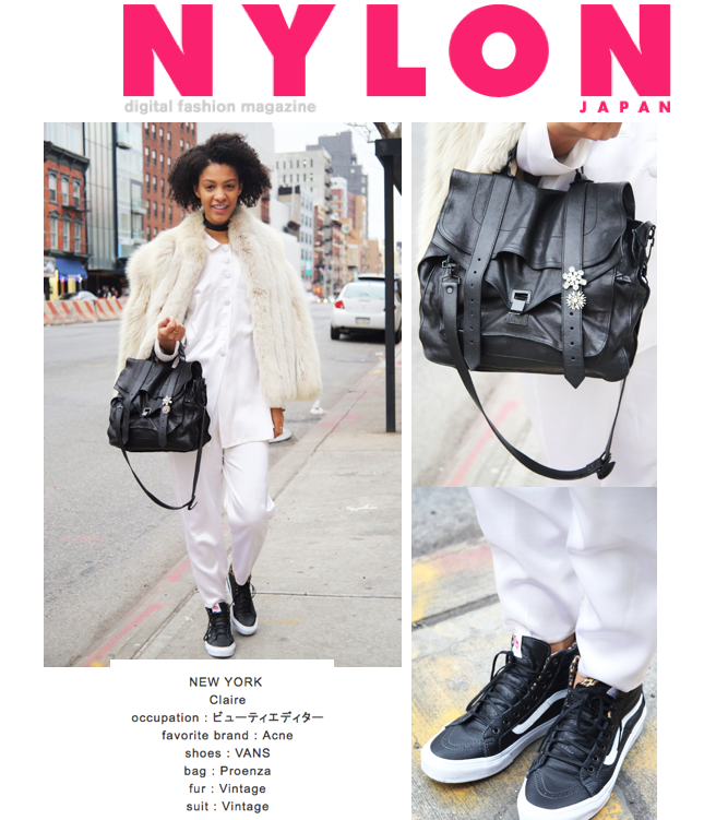 Claire Leana Millar Nylon Japan Street Style