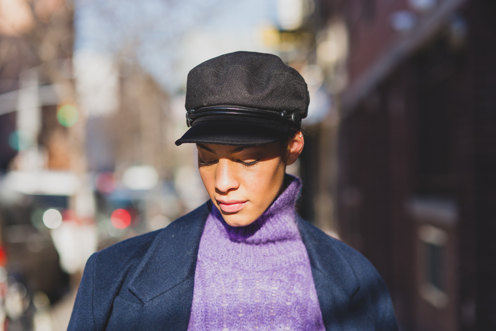 I Wore;Balenciaga Runway glitter pants, Christopher Kane sweater, Christian Dior coat, Nasty Gal hat
