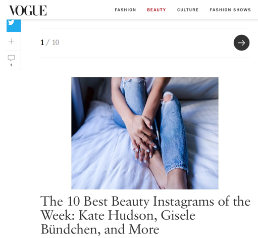 Claire's Picture For US Vogue