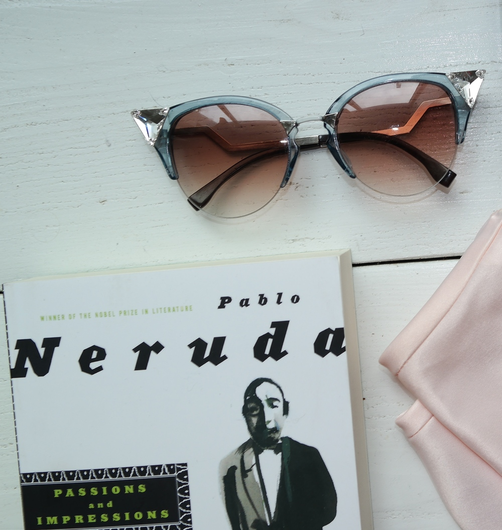 Crystal Fendi Cat Eye Sunglasses / Pablo Neruda Passions and Impressions