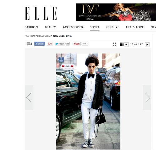 Claire Leana Millar Elle Magazine NYFW Street Style