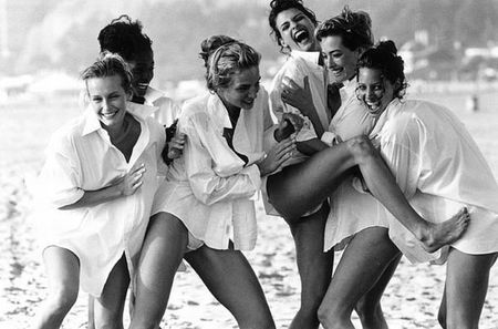 Supermodels Laughing