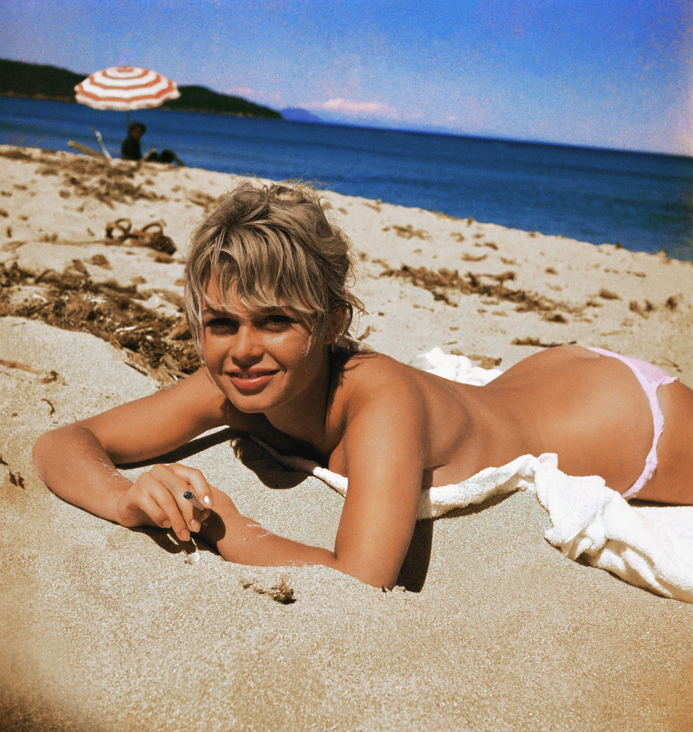 Bridget Bardot On the beach