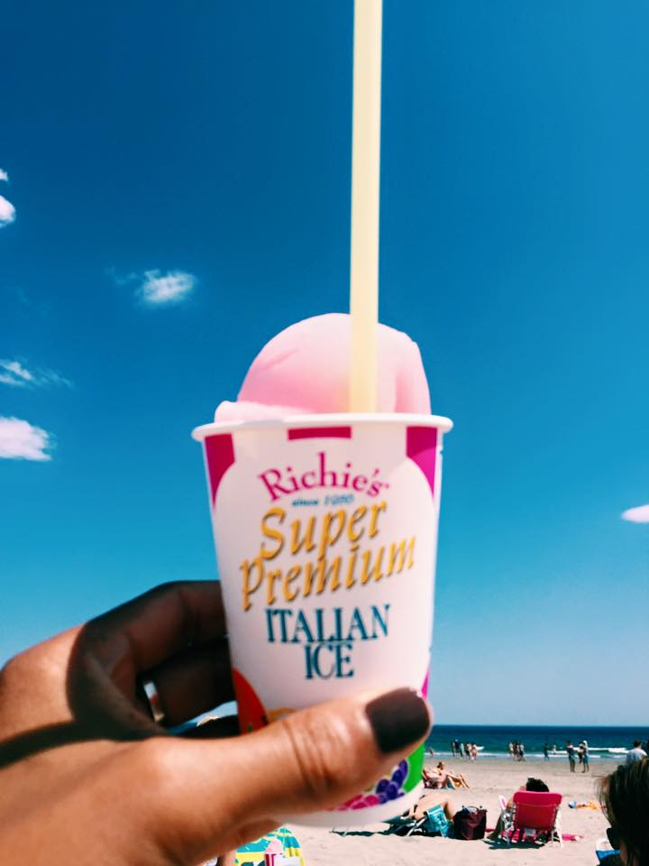 Pink Watermelon Slush on Good Harbor Beach