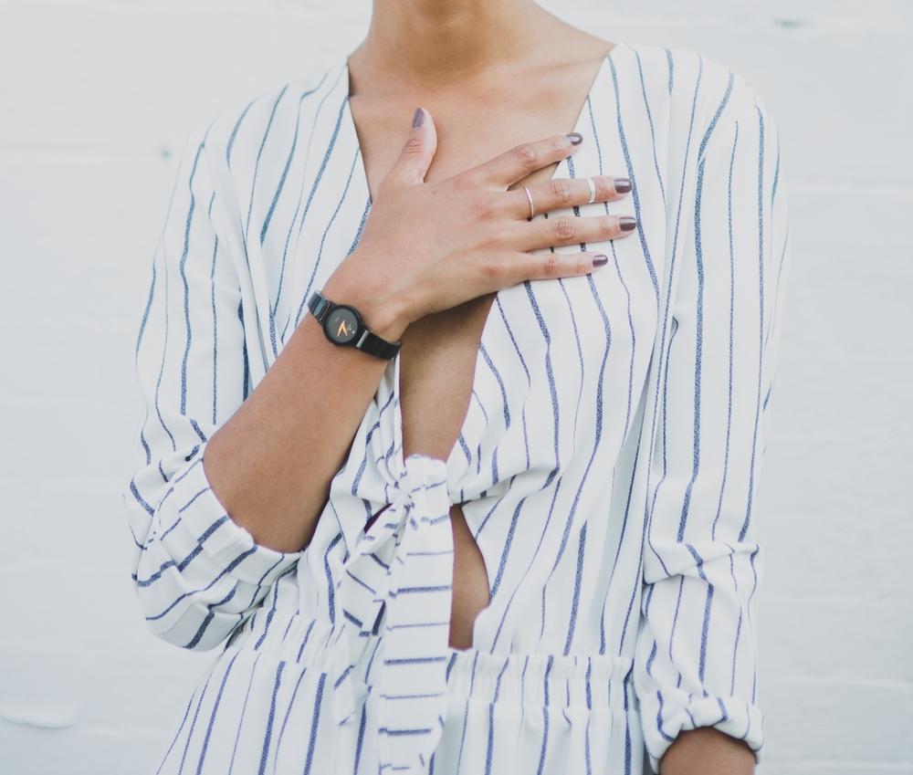H&M Jumpsuit Movado black Watch catbird rings