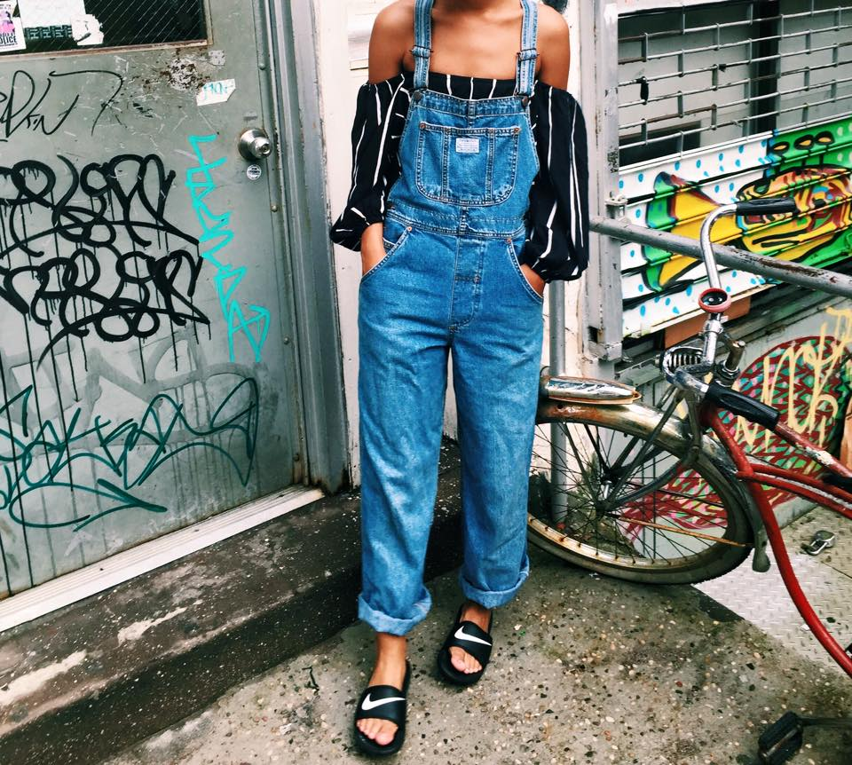 Claire Leana Millar East Village Based Blogger Vintage Denim Overall look