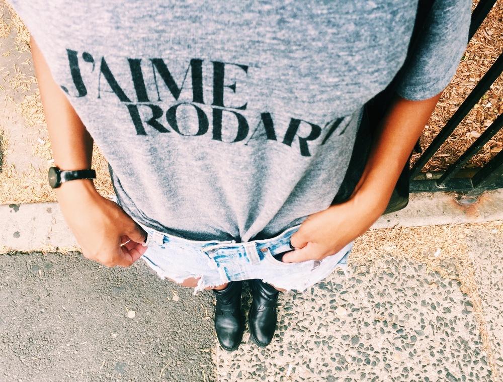 Rodarte Tee, Redone Shorts, Zara Boots