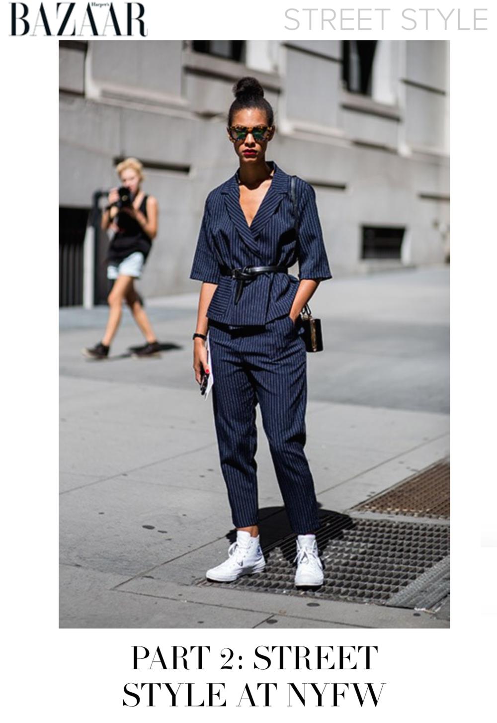 Claire Leana Millar Bazaar Street Style NYFW