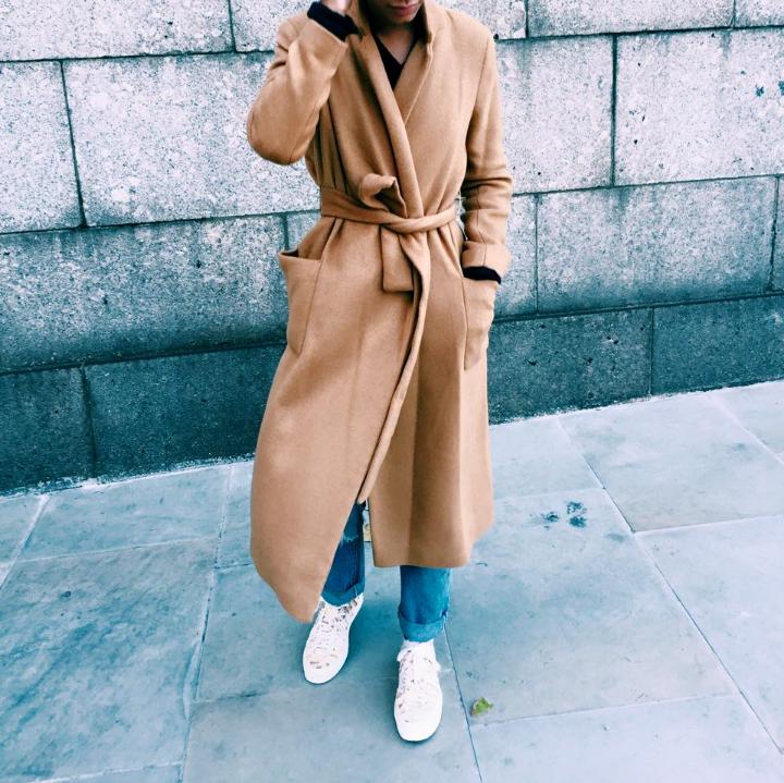 Topshop Camel Coat, Redone Denim, Missoni Converse