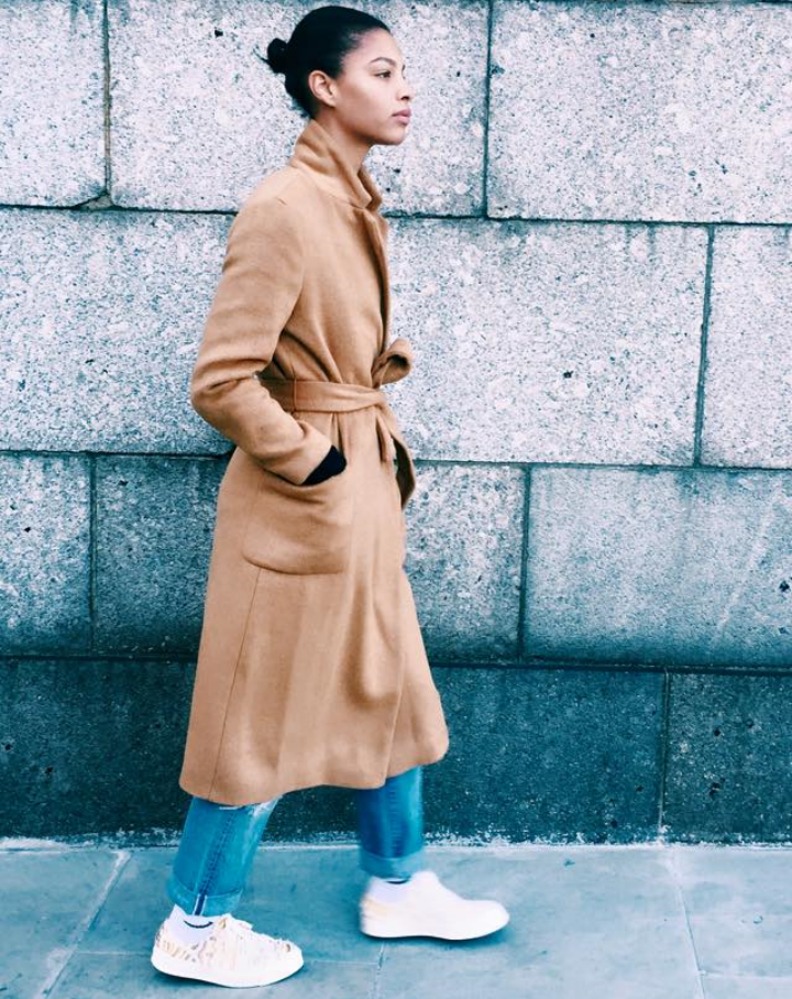 Claire Leana Millar Style Blogger in London Wearing a Camel Trench
