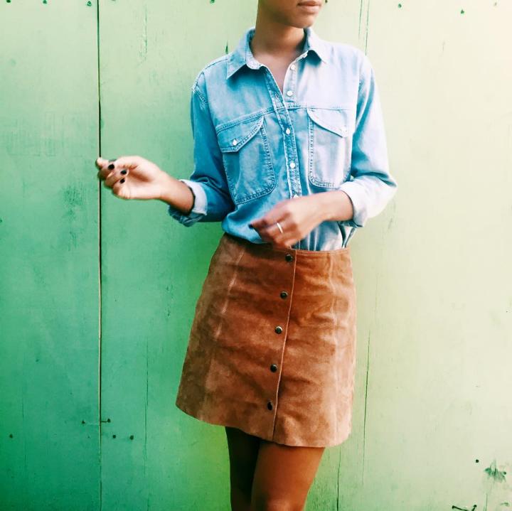 Top + Skirt TopShop, Zara Booties