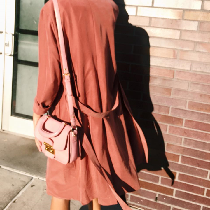 Blush Tone American Apparel Trench Coat, Pink Miu Miu Crossbody