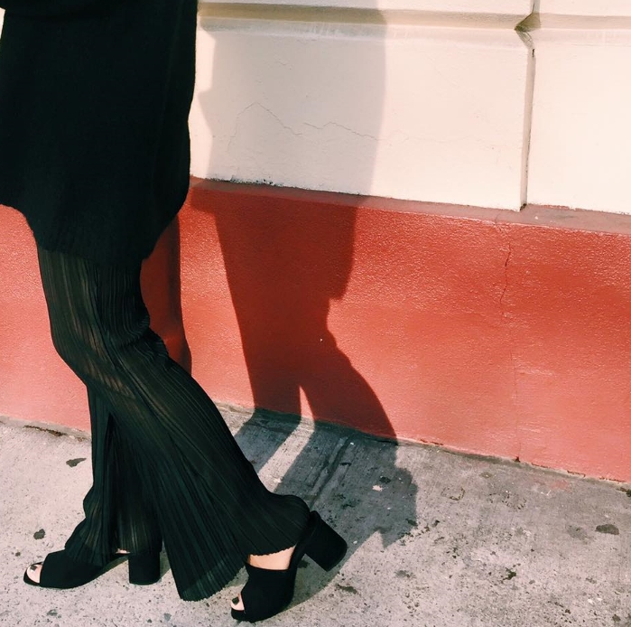 The Perfect black suede mule