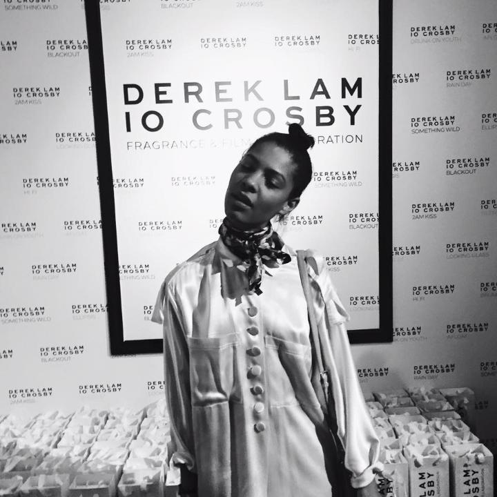 Vintage Silk PJ Suit &Givenchy Scarf
