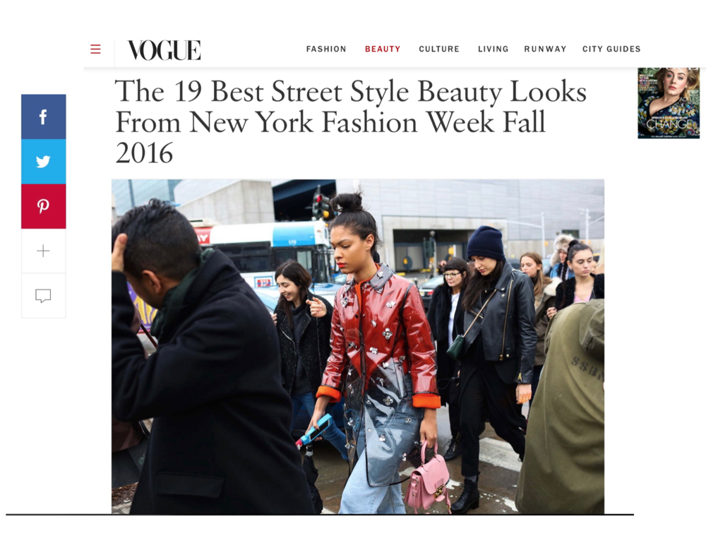 Best Beauty Looks From NYFW A/W16 via Vogue Runway Claire Leana Millar