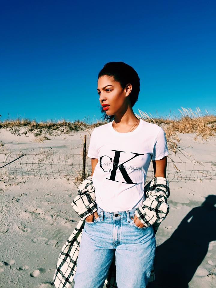 Calvin Klien Tee, Vintage Mens Levis Jeans, H&M Sweater, Zara Moto Boots