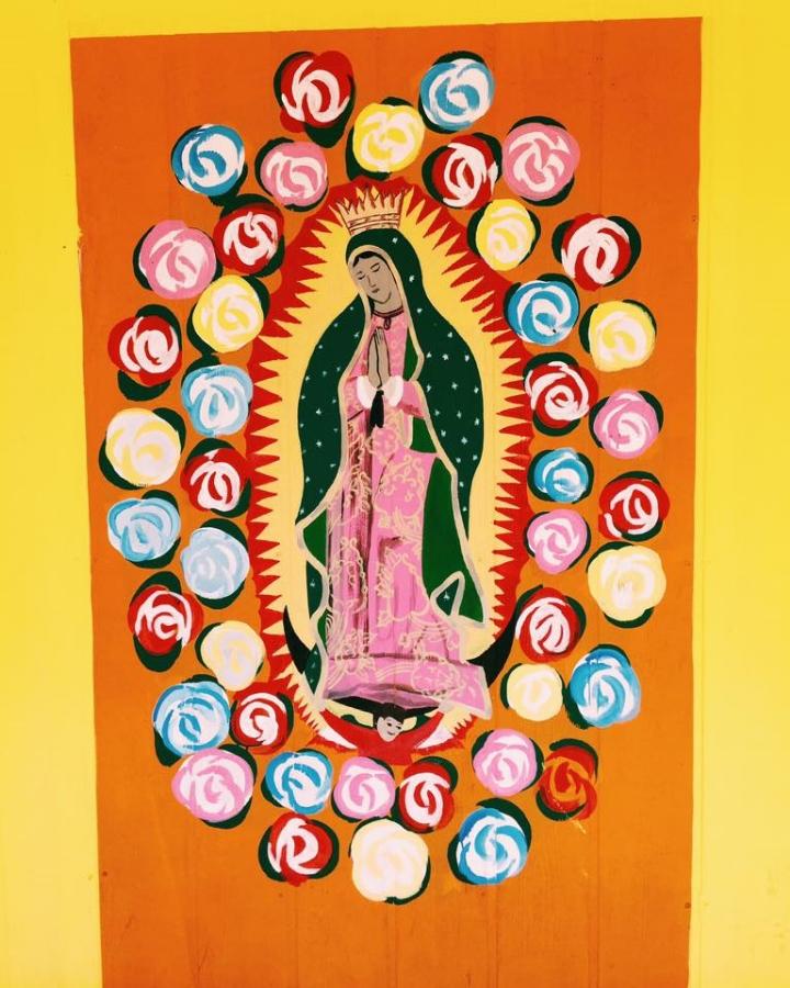 Sait Mary mural in Austin Texas