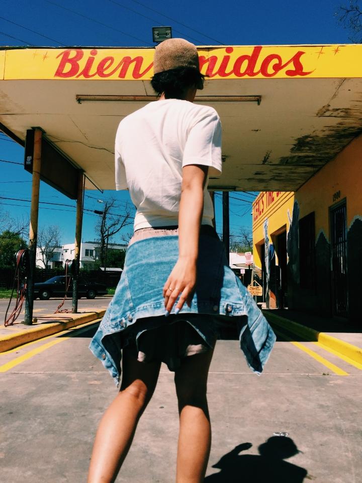 Claire Leana Millar in East Austin Leals Tire Shop