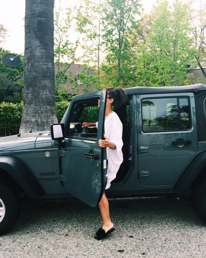 Jeep Wrangler in Beverly Hills with Claire Leana Millar