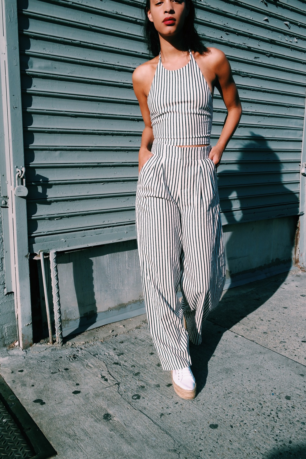 Claire Leana Millar Street Style Alice and Olivia matching separates