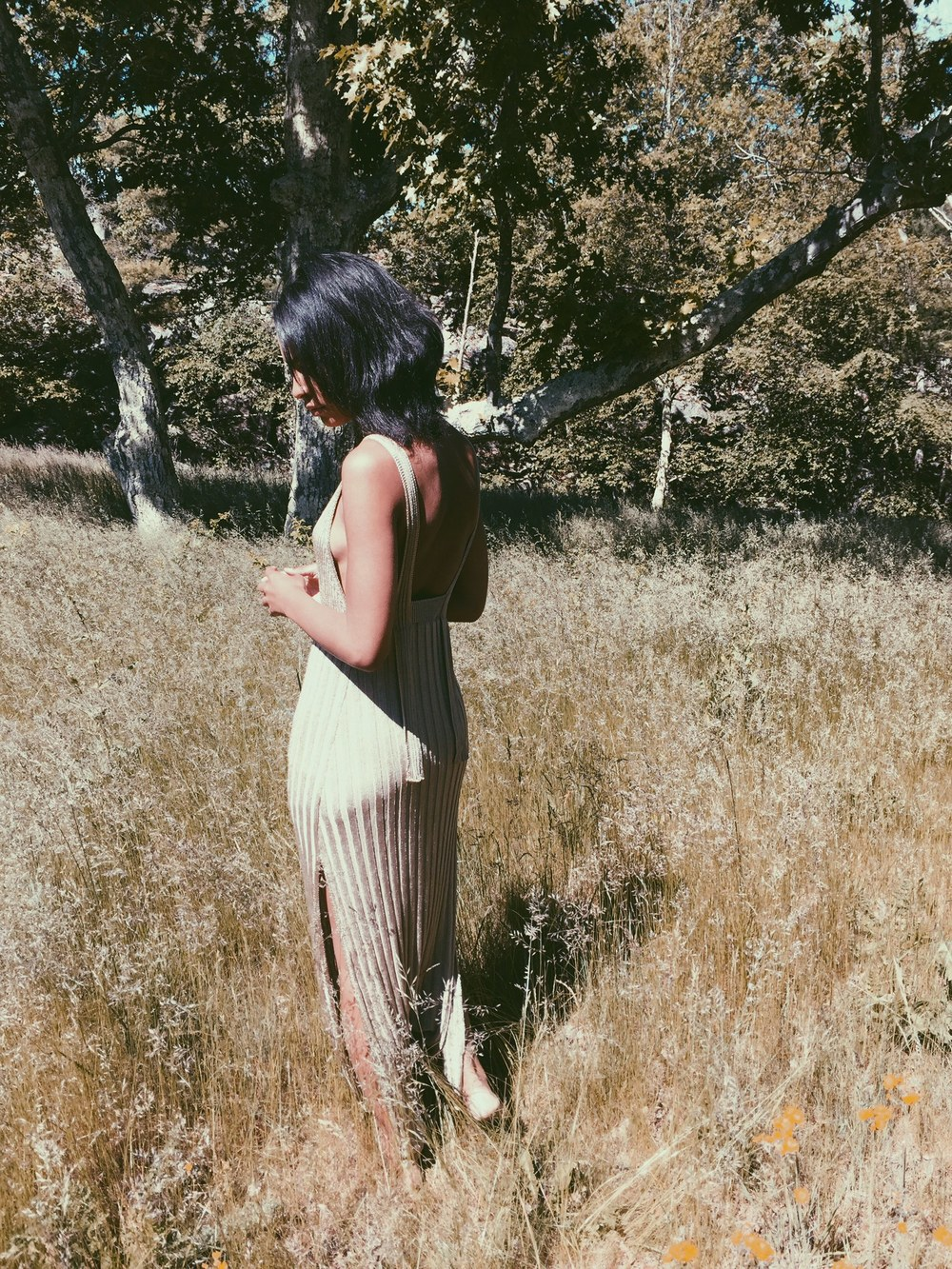 Blogger Claire Leana Millar wearing Limited Edition Gold-  Toned Zara Dress
