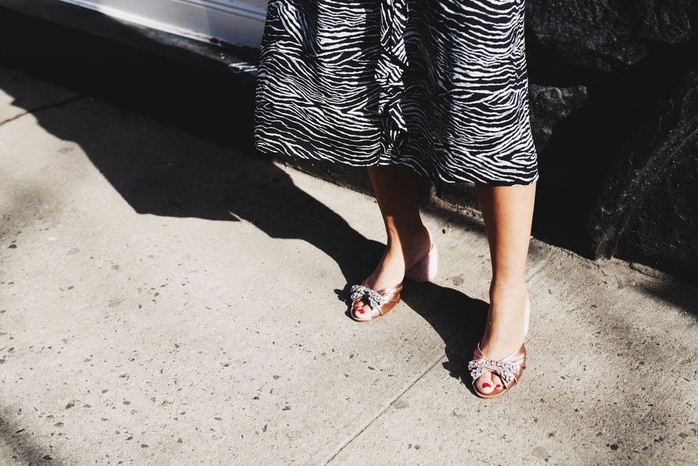 Miu Miu Shearling + Crystal Slides