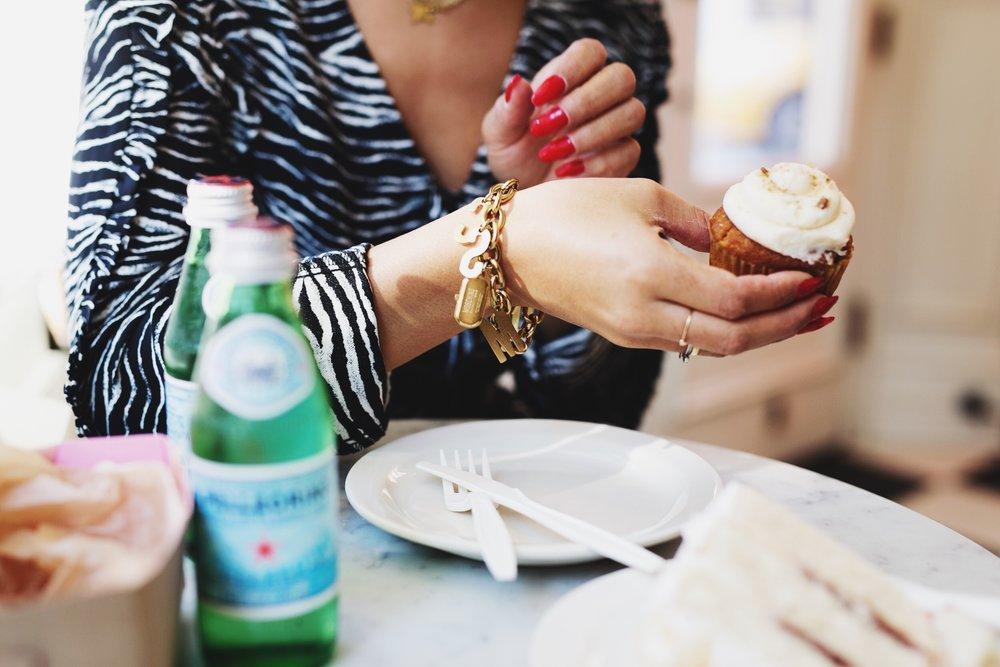 Moschino Watch charm bracelet on Claire Leana Millar