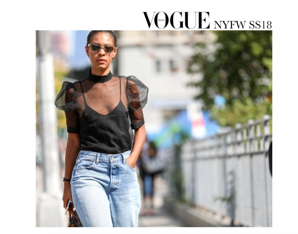 Claire Leana Millar StreetStyle NYFW ss18 Vogue Italia