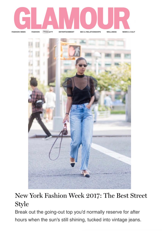 Glamour Magazine Best Street Style of NYFW Claire Leana Millar