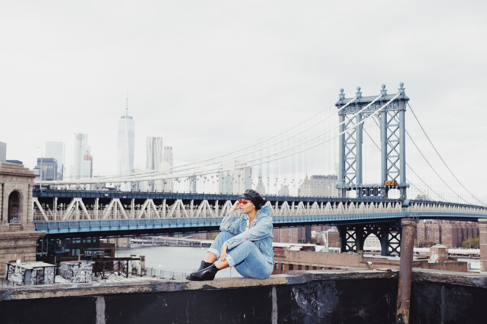 Claire Leana Millar in Dumbo wearing Denim on Denim