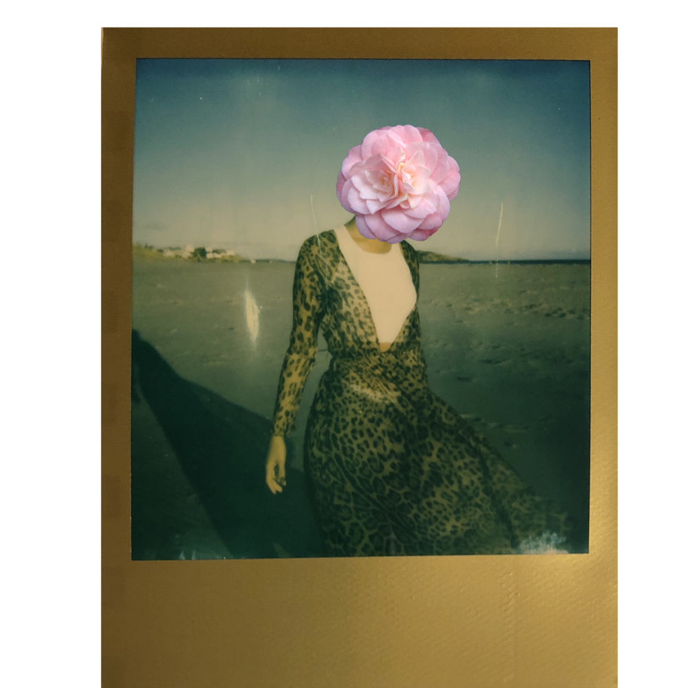 Polaroid Film taken on Good Harbor Beach Gloucester MA wearing Rat&Boa