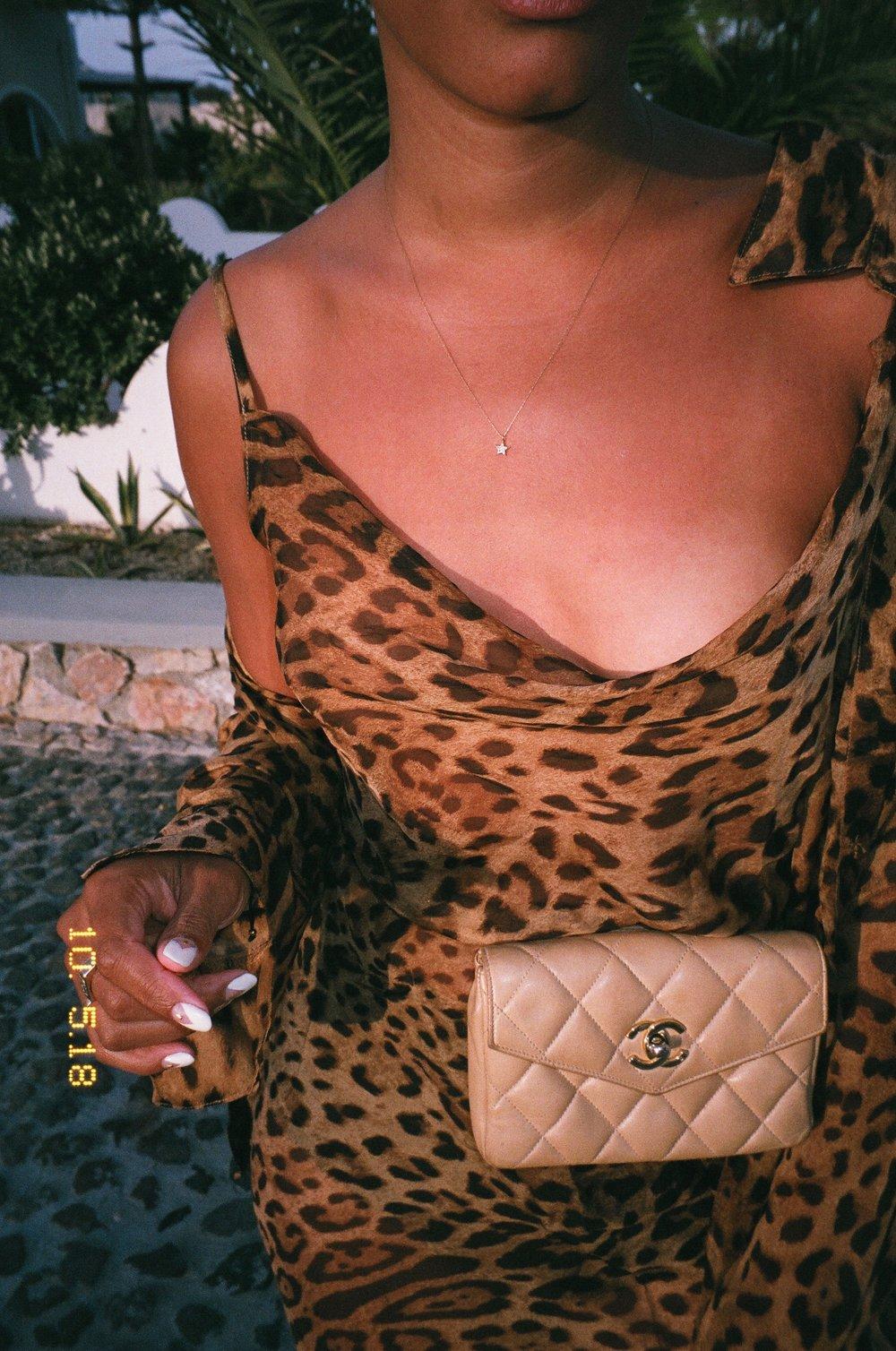 Wearing Rat&Boa Dress & Shirt + Vintage Chanel Belt Bag.