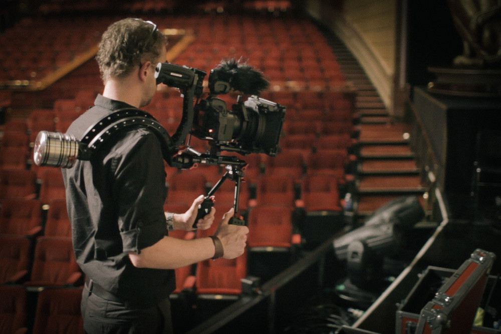Me on the Zacuto handheld rig
