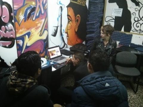 Workshop at la Fundación Familia Ayara.