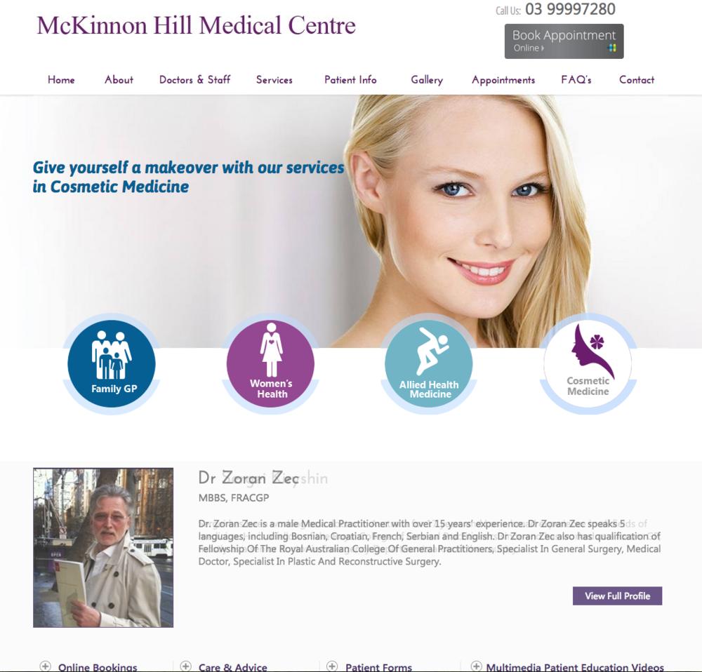 Website for Medical Centre