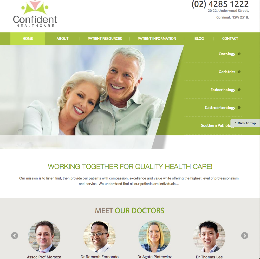 Website for General Practice Medical Centre Australia