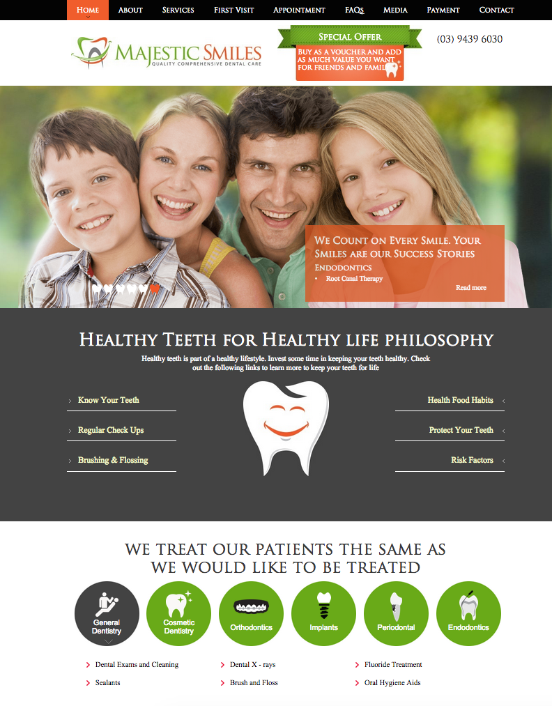 Dentist Website Australia