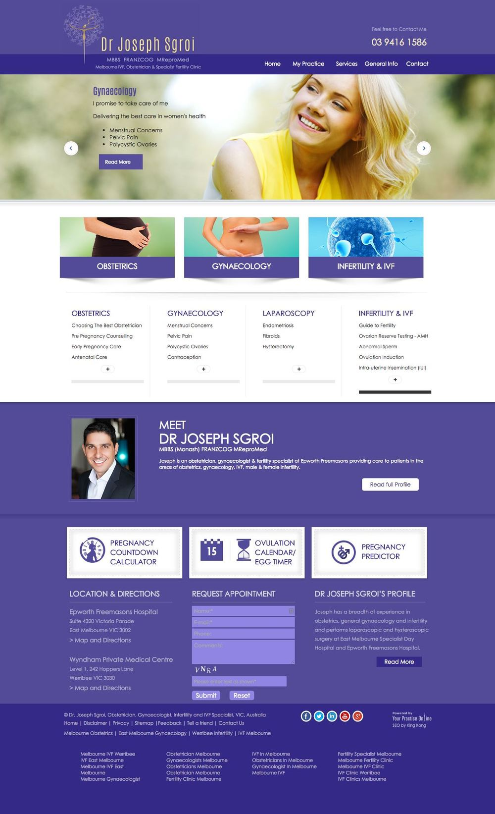 Melbourne Obstetrician Website