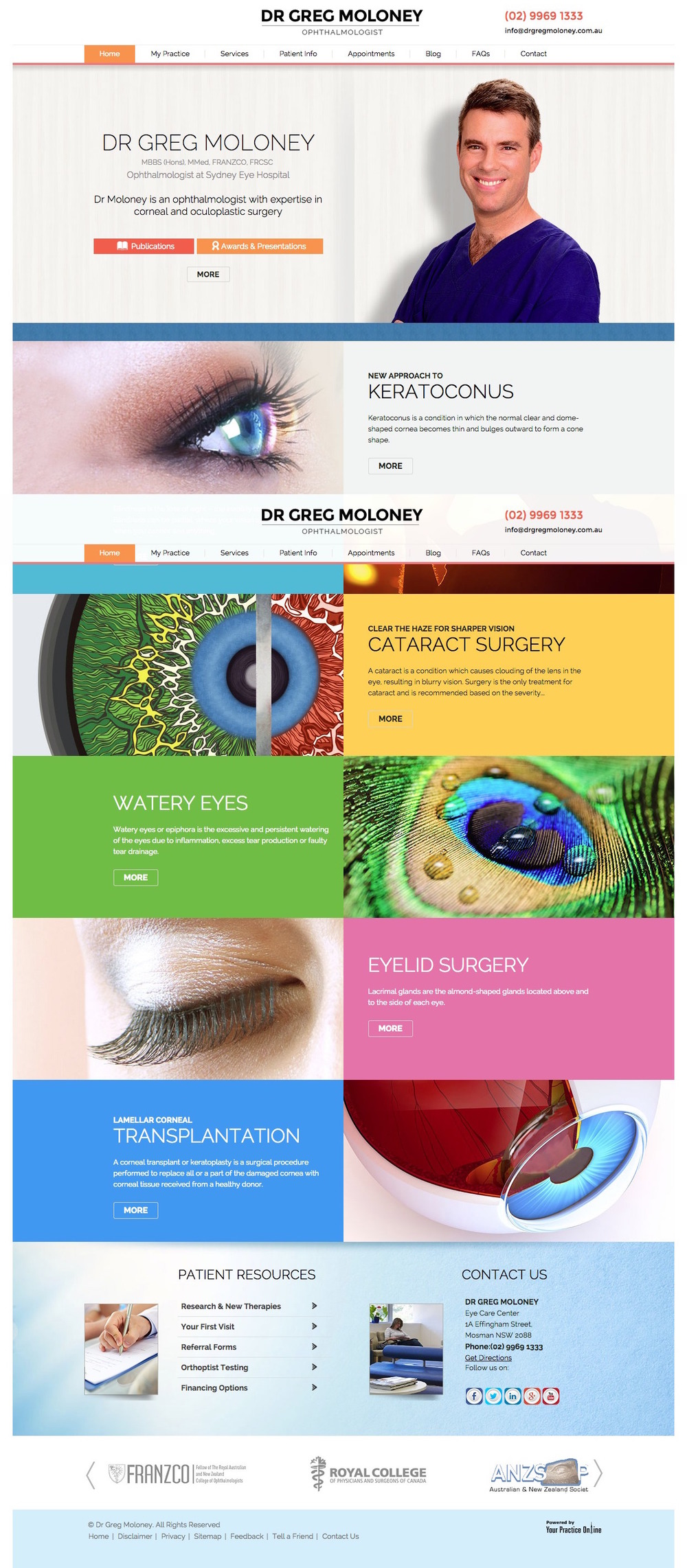 Ophthalmologist Website