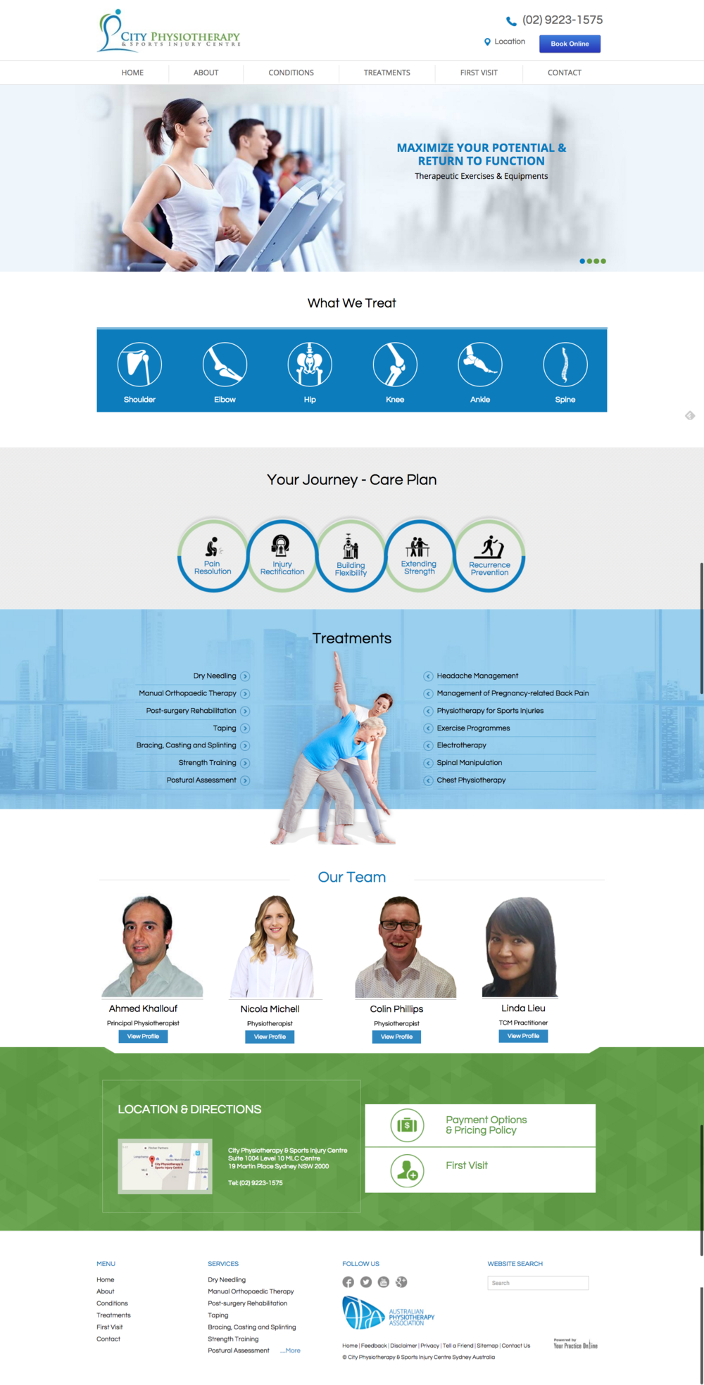 City Physiotherapy   Sports Injury Centre  Sydney   Australia.png
