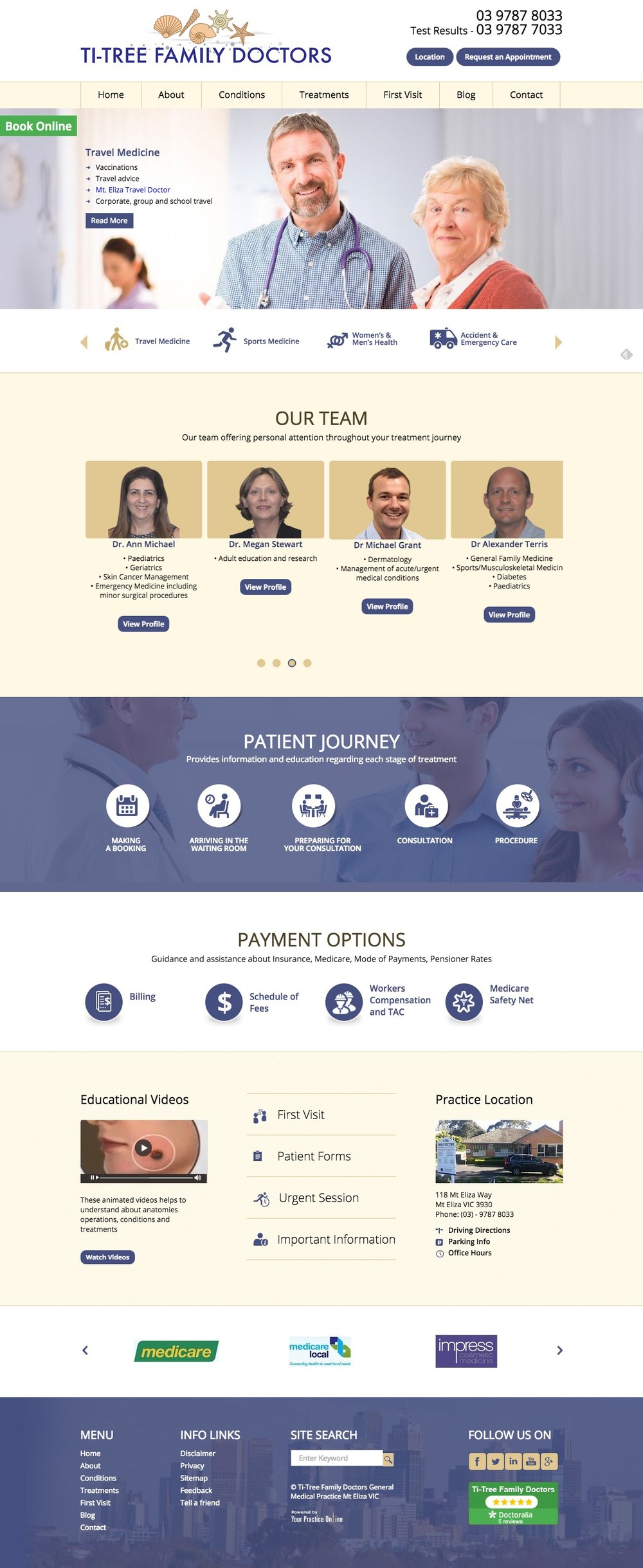 Melbourne General Practice Website