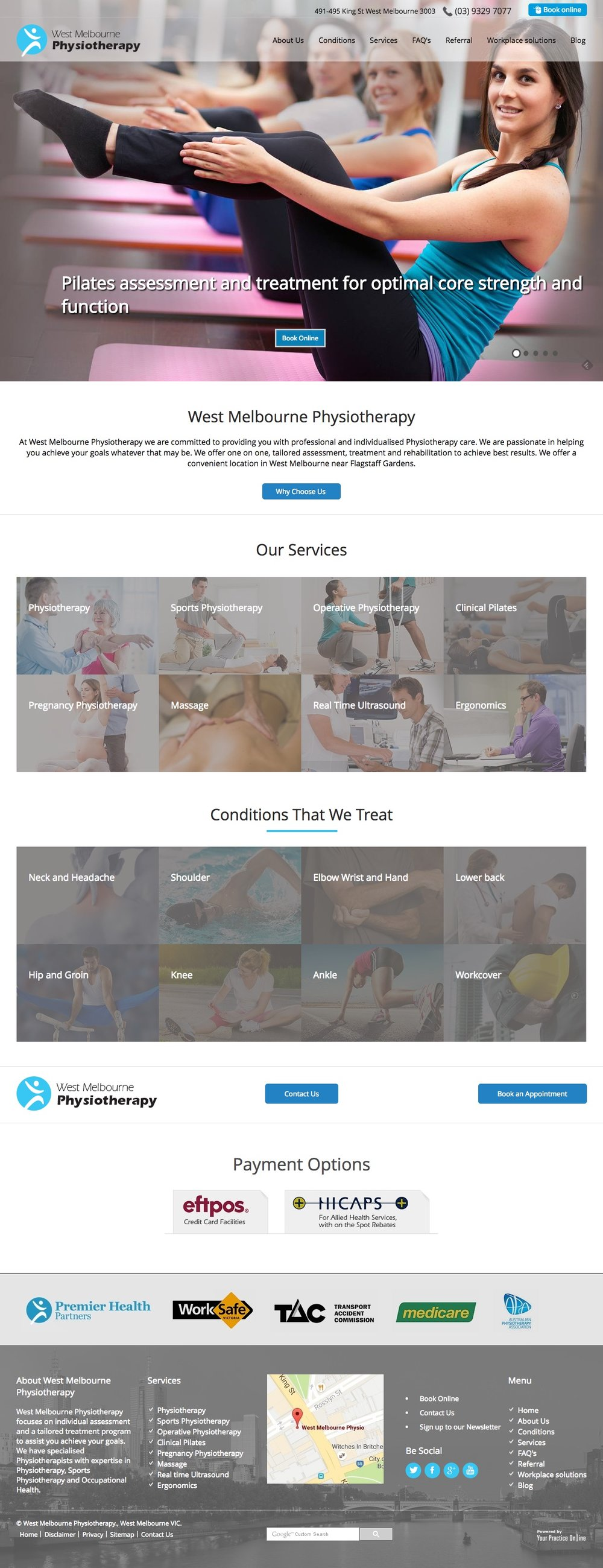 Melbourne Physiotherapy Website