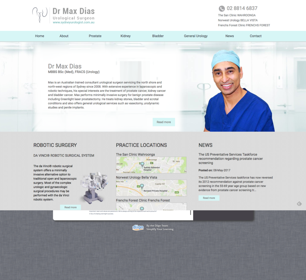 Medical Website for Urology Surgeons