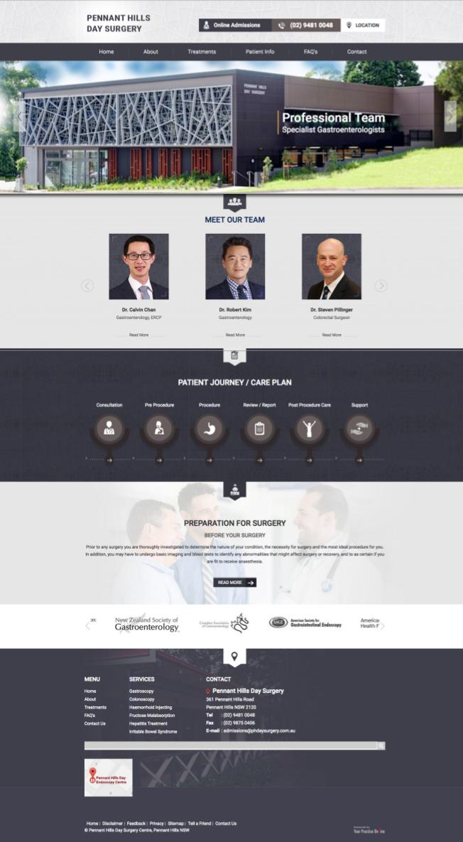 Gastroenterology Surgeon Website
