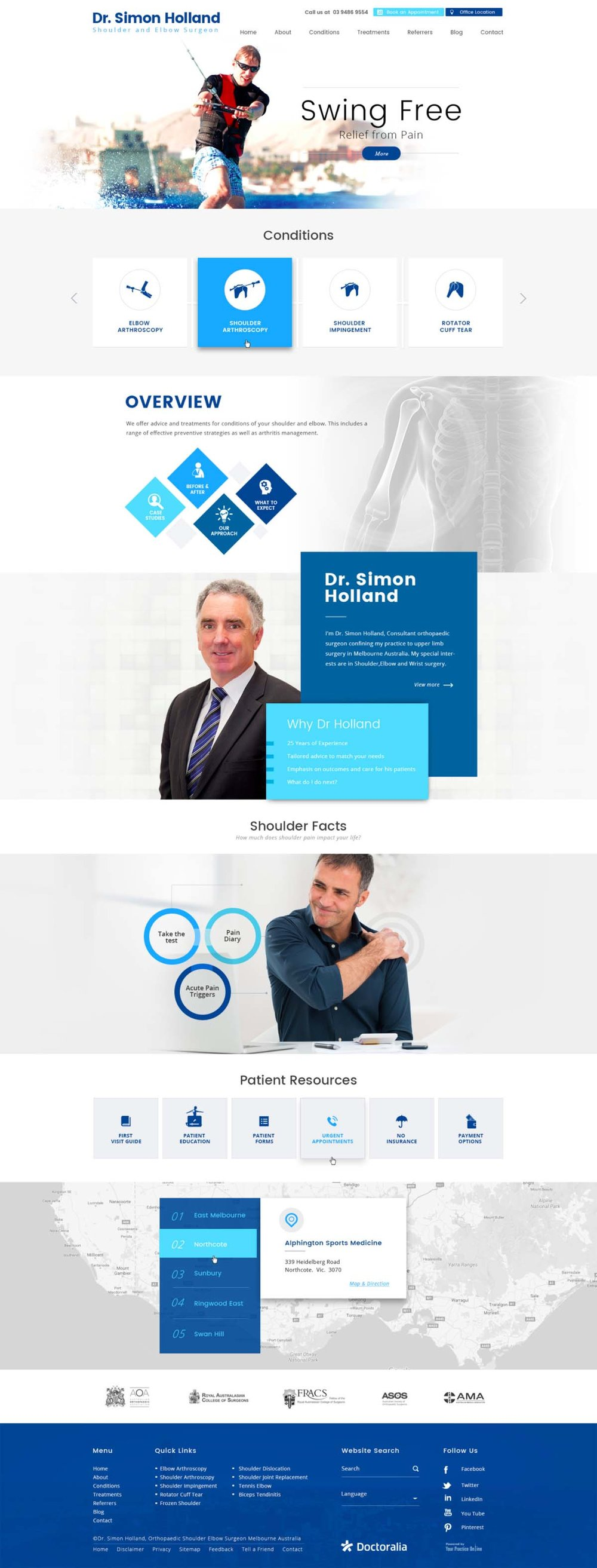 Website for General Surgeon