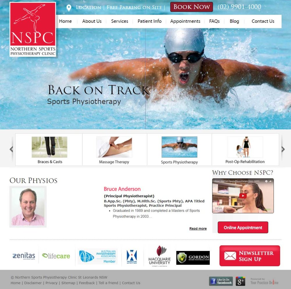 Sydney Physiotherapy Website