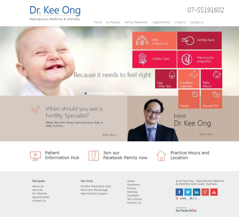 Gynaecologist and Fertility Doctor Website
