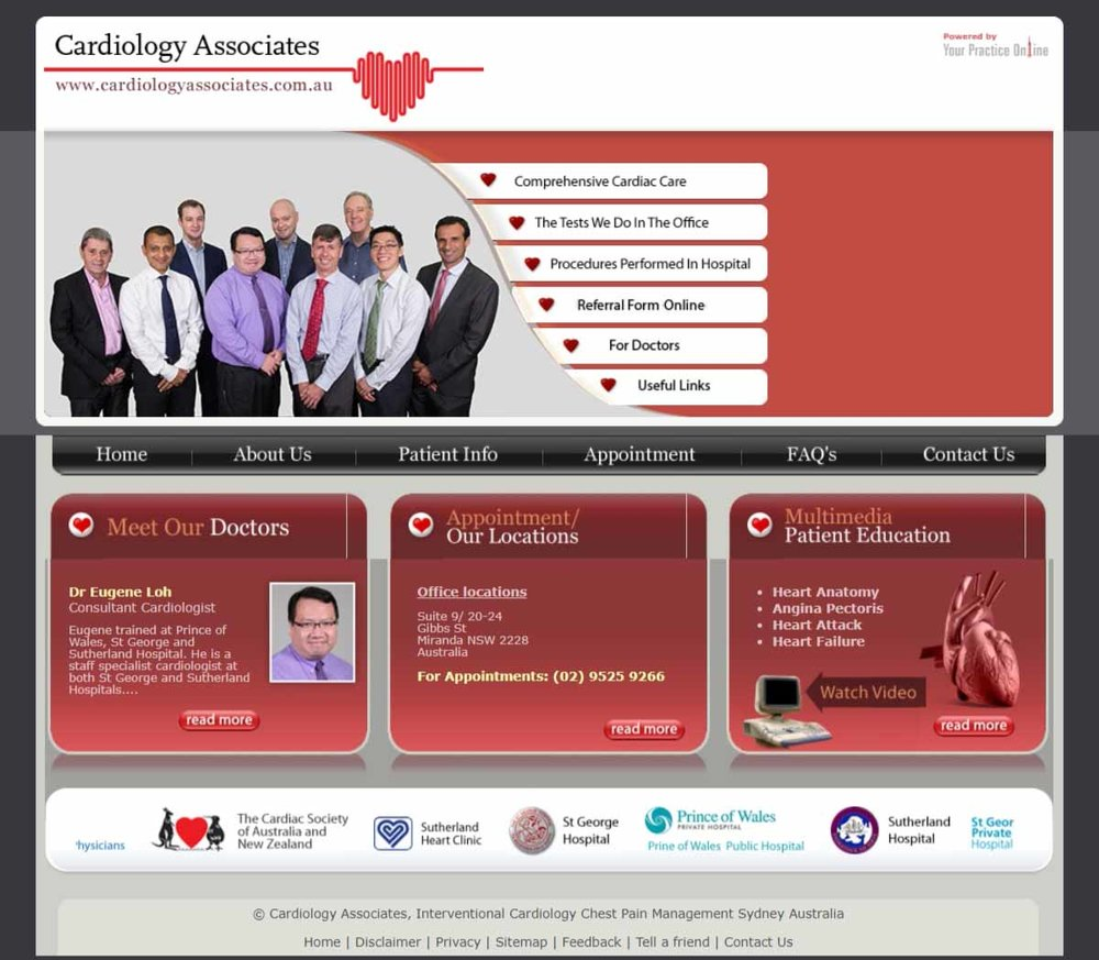 Sydney Cardiologists Website