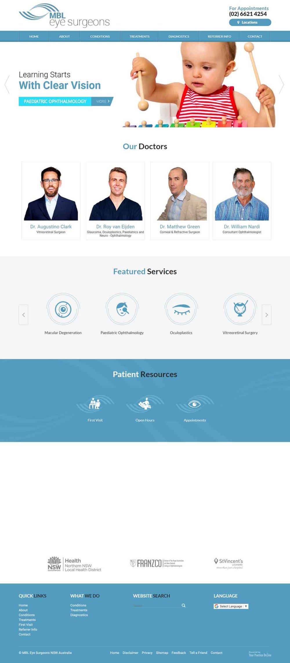 Website for Eye Surgeons